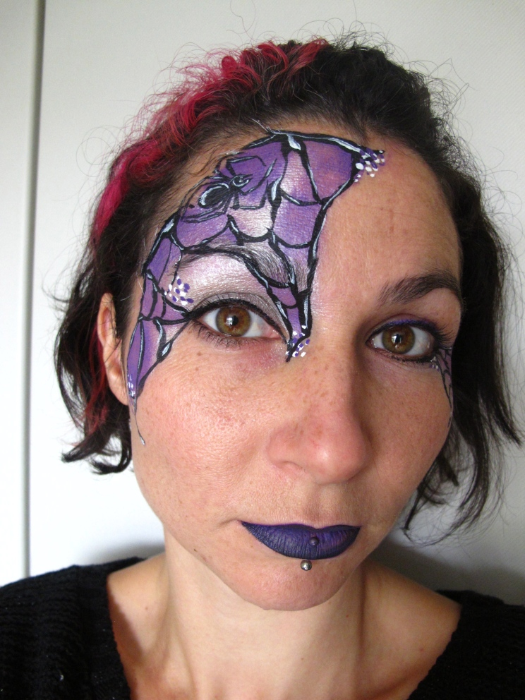 Spider Web Face Paint for Halloween (c) Alana Dunlevy