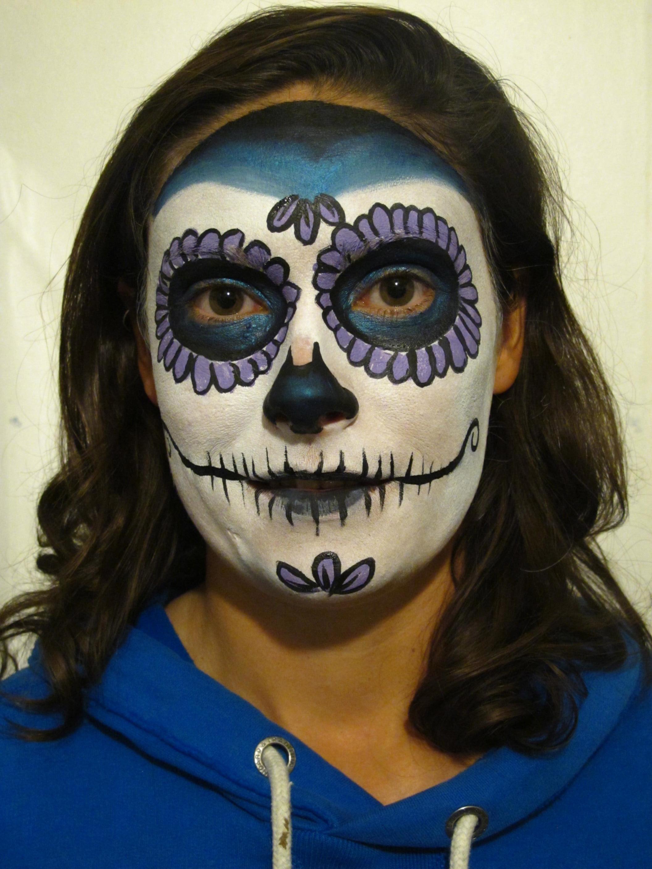 Sugar Skull Part 5 (c) Alana Dunlevy Sugar Skulls Face Paint Black And White