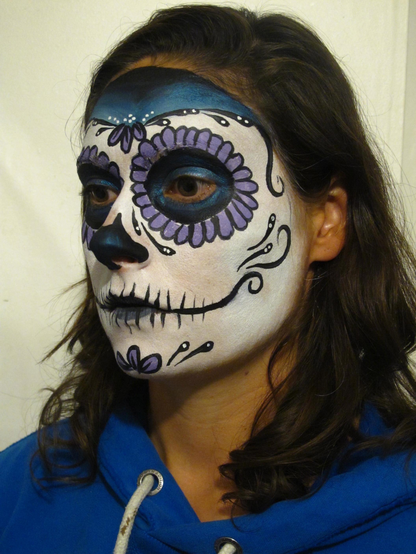 Sugar Skull Face Paint Tutorial | Coochie Crunch
