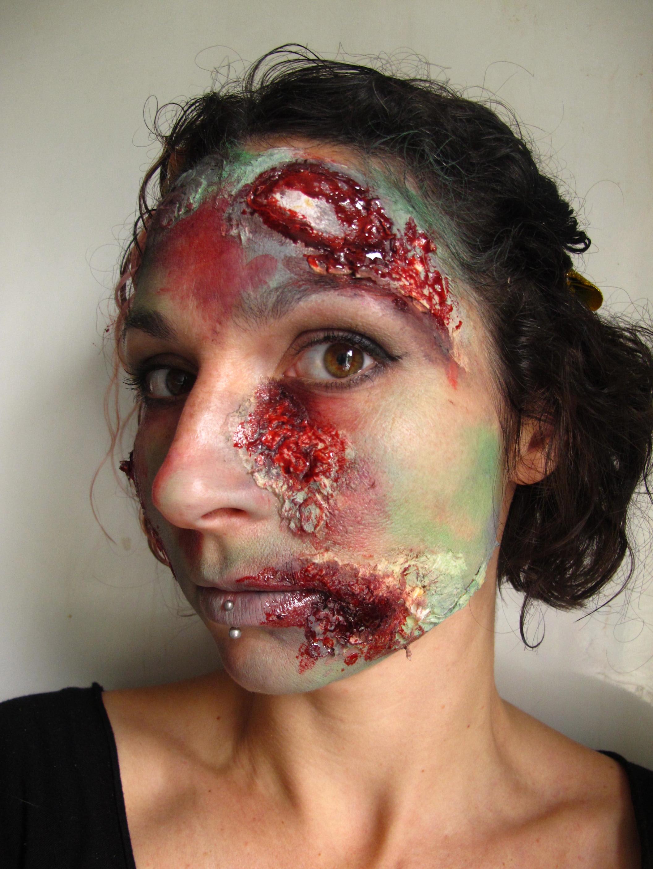 Face Paint Latex Zombie Face Paint Step 7 c