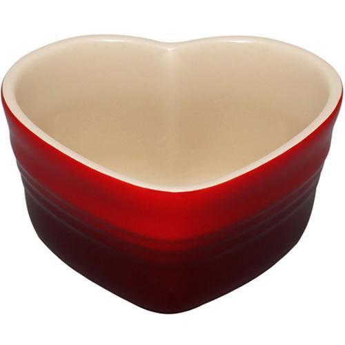 I recommend Le Creuset heart shaped ramekins - TL