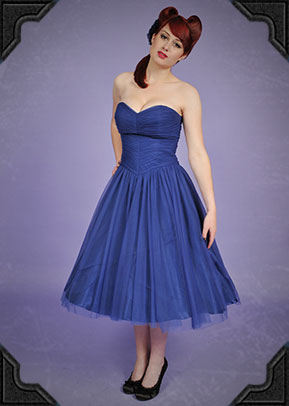 Deadly is the Female - Tempest dress in Blue