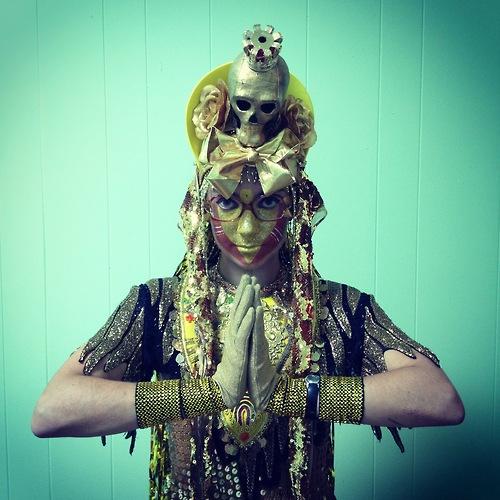 Corinne Loperfido models her own costume & headdress (c) Corinne Loperfido