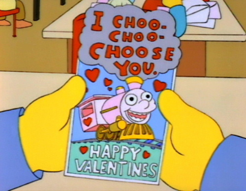 I choo-choo-choose you!