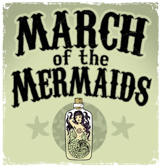 March of the Mermaids, Brighton, UK. 27 July 2013