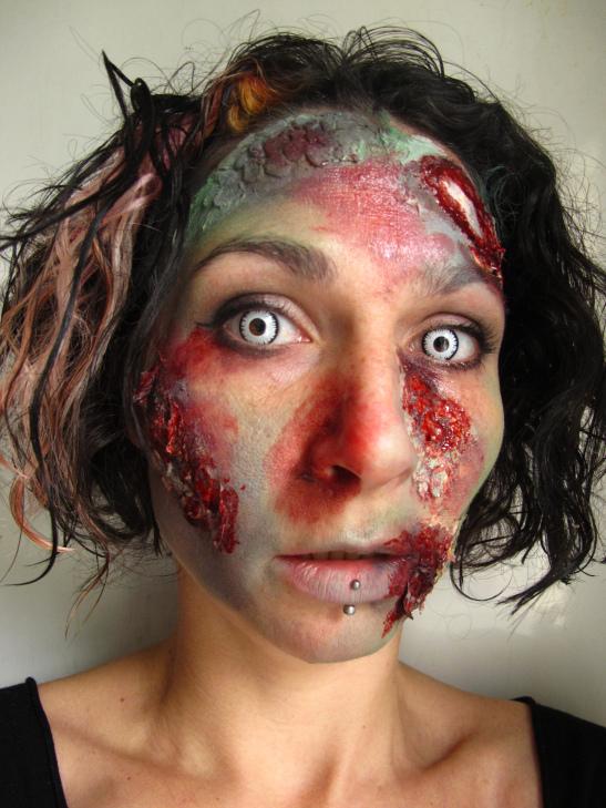 Zombie Face Paint Tutorial (c) Alana Dunlevy