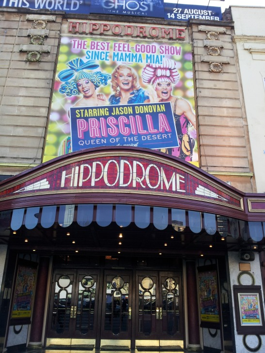 Priscilla lands at our lovely local treasure - Bristol Hippodrome.