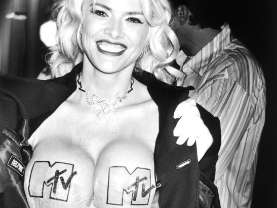 Anna Nicole Smith with MTV Pasties