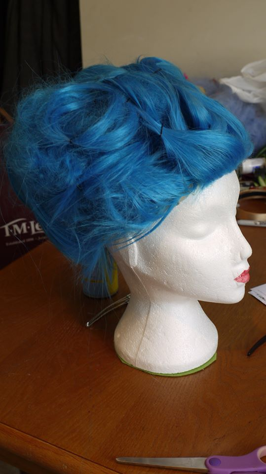 Style a brightly colored wig in to a wild up-do and let the rest of 'em eat cake! (c) Ally Katte