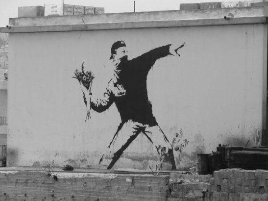 Banksy - Love is in the Air