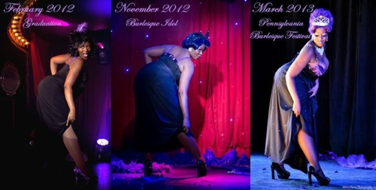 Violet Blaze's image of the evolution of her Big Mama act