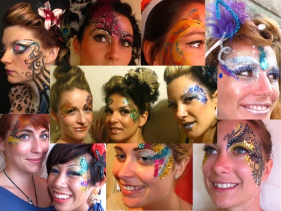 Glitter Face Paint - So many options! (c) Alana Dunlevy