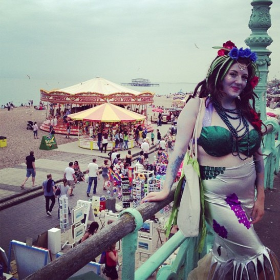 Swamp Tentacle Mermaid Ally Katte before the parade (c) Tuesday Laveau