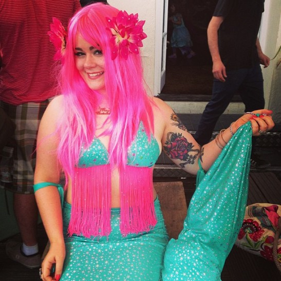 Tuesday Laveau and her tail at the Mermaid after party. (c) Tuesday Laveau