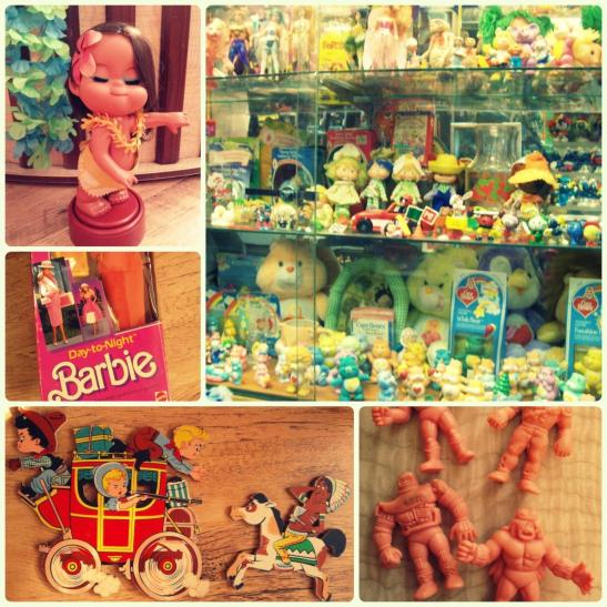 Vintage shopping fun. (c) Sandy Sure Ed Note - Those little guys in the bottom, right corner are M.U.S.C.L.E Toys