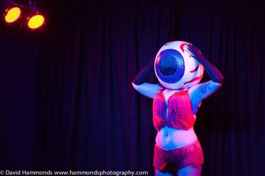 Tuesday Laveau's Eyeball Act. (c) David Hammonds Photography