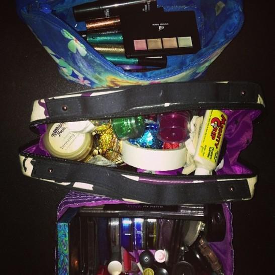 Stripper case all organised. Pretty!