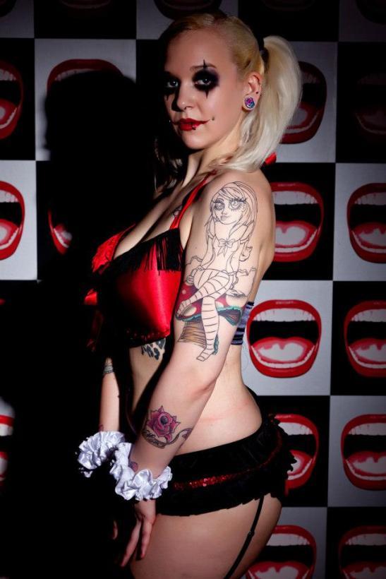 Poppy Raine & her Alice in Wonderland tattoo by Leah Moule (c) Richard Matthews