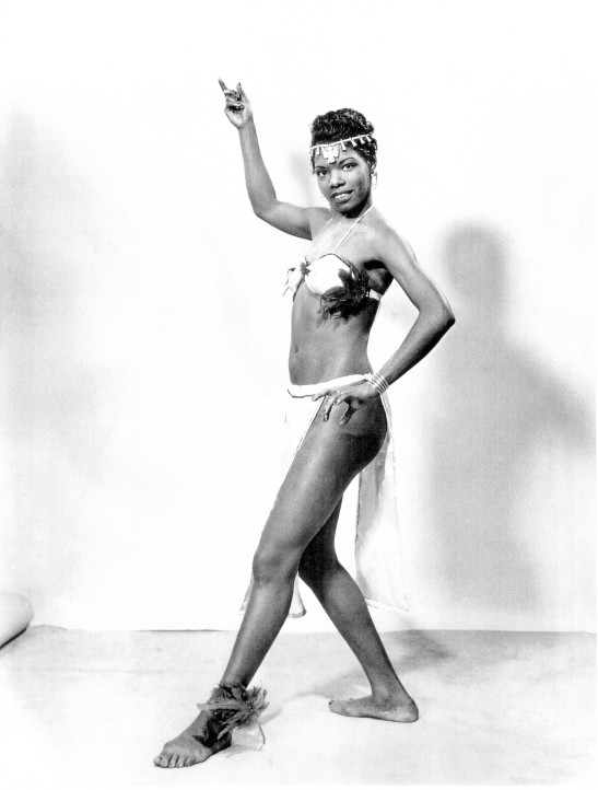 Maya Angelou, the dancer.