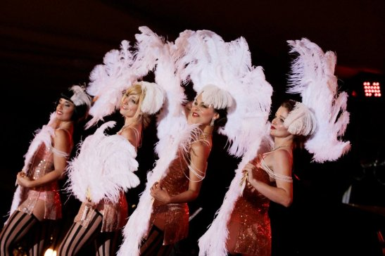 Bella Blue, Trixie Minx, Nona Narcisse & Kitty Twist at the Ascona Jazz Festival (c) Michael Dardant