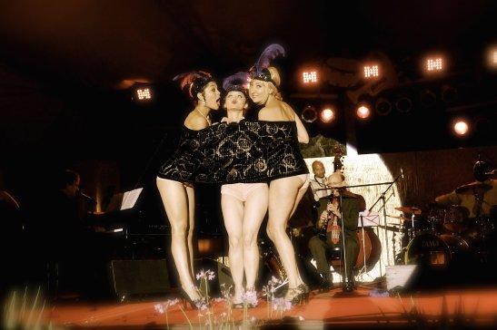 Nona Narcisse, Kitty Twist and Trixie Minx at the Ascona Jazz Festival