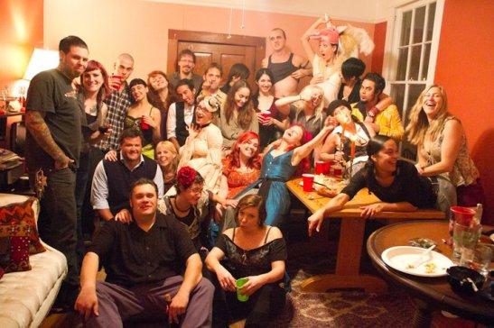 Kitty Twist & friends at 'Spanksgiving' (c) Jian Bastille