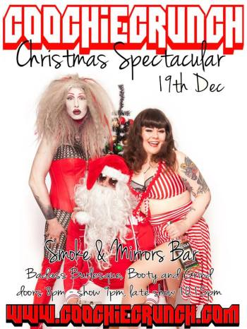 It's a CoochieCrunch Christmas! 19 December 2014 at Smoke & Mirrors, Bristol