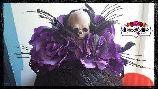 Rockabilly Red Skull Halloween headband https://www.etsy.com/shop/RockabillyRedBristol?ref=ss_profile