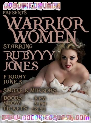 CoochieCrunch Presents: Warrior Women 5 June 2015 at Smoke & Mirrors, Bristol UK