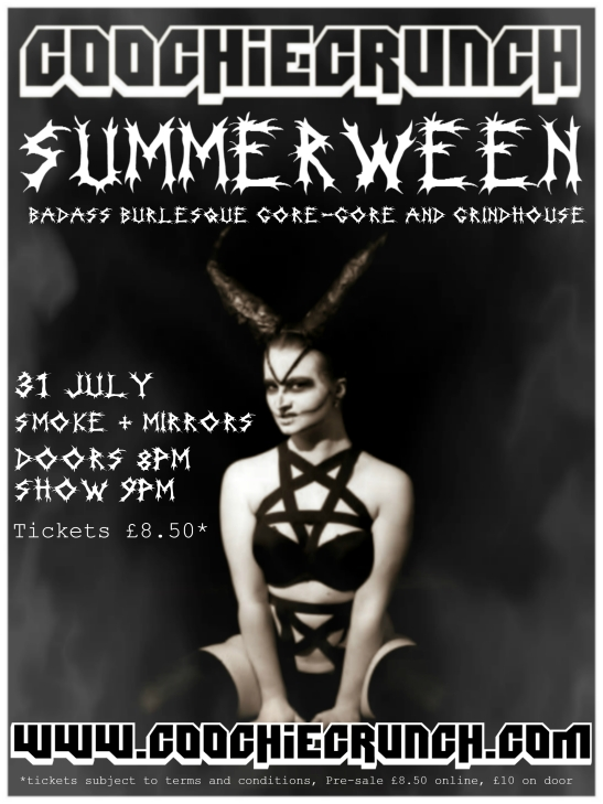 CoochieCrunch Presents: Summerween, 31 July 2015 at Smoke & Mirrors, Bristol UK