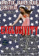 Bristol Burlesque Festival September 8-9-10 EXCLUSIVITY