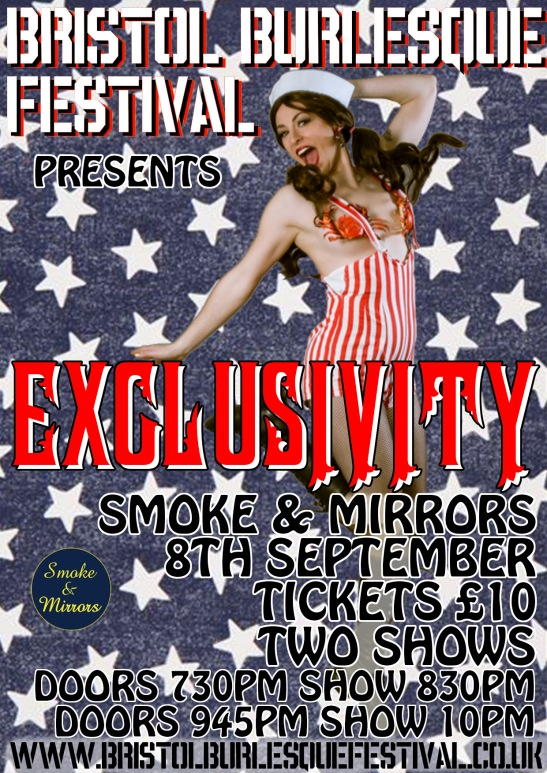 Bristol Burlesque Festival September 8-9-10 EXCLUSIVITY