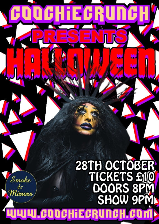 CoochieCrunch Presents: HALLOWEEN Friday 28 October 2016 at Smoke & Mirrors, Bristol UK