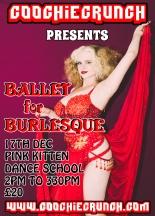CoochieCrunch: Presents Ballet for Burlesque with Lolita VaVoom Saturday 17 December 2016 at Pink Kitten Dance School, Bristol UK Rica Rosa Photography. Artwork by Graeme Shankland.